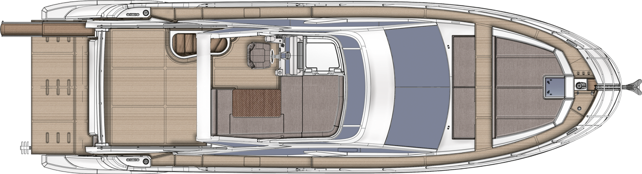 Azimut 50 - above view