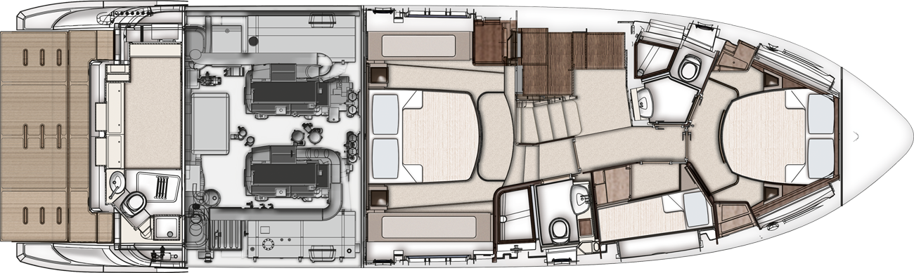 Azimut 50 Galley UP Version - LowerDeck