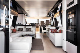 Azimut 72 - Dark Oak & Glossy Sicomoro Frisè decor - Salon
