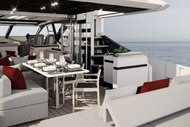 Azimut S7 - Salon - Decor Platino