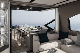 Azimut S7 - Salon - Decor Perla Nera